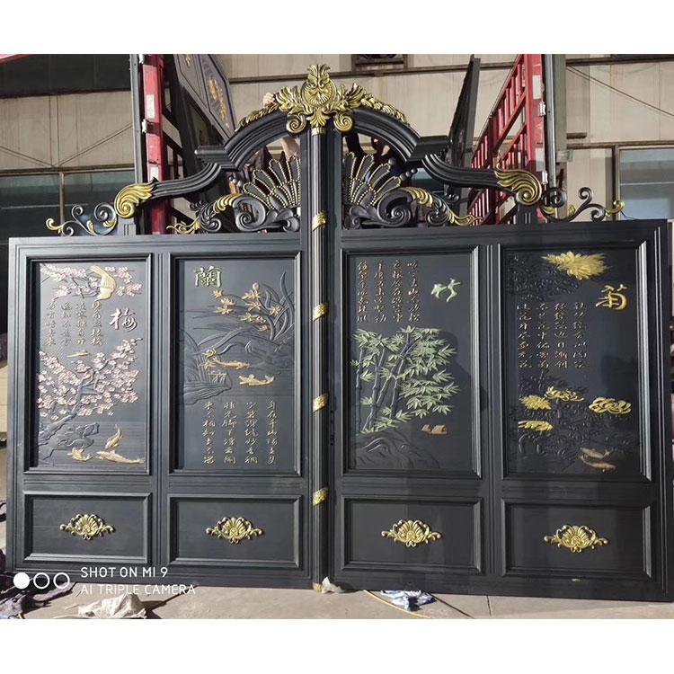 电动铝艺门 小区大门