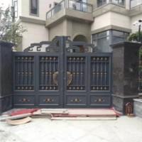 供应铝艺庭院大门  铝合金大门价格 电动铝艺门厂家