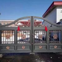 按需定制铝艺庭院大门 铝合金大门 别墅自动门 电动铝艺门厂家