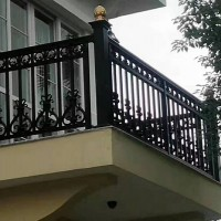 定制铝合金阳台护栏 安全防护栏 别墅铝合金阳台栏杆厂家直销