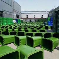 拉车垃圾桶加厚型,金发塑料垃圾桶定制厂家,定制批发