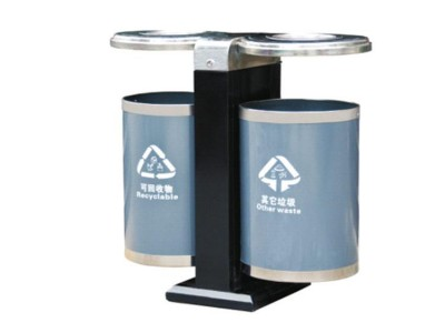定制201不锈钢垃圾桶 户外室外不锈钢分类果皮箱 电镀垃圾箱