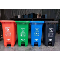 环卫分类垃圾桶_金发塑料垃圾桶_垃圾桶生产定制厂家
