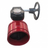 沟槽蝶阀采取沟槽卡箍接洽和相应的管件安置管路