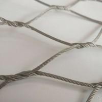 不锈钢钢丝绳网动物笼舍围网动物园围网围栏鸟围网卡扣绳网厂