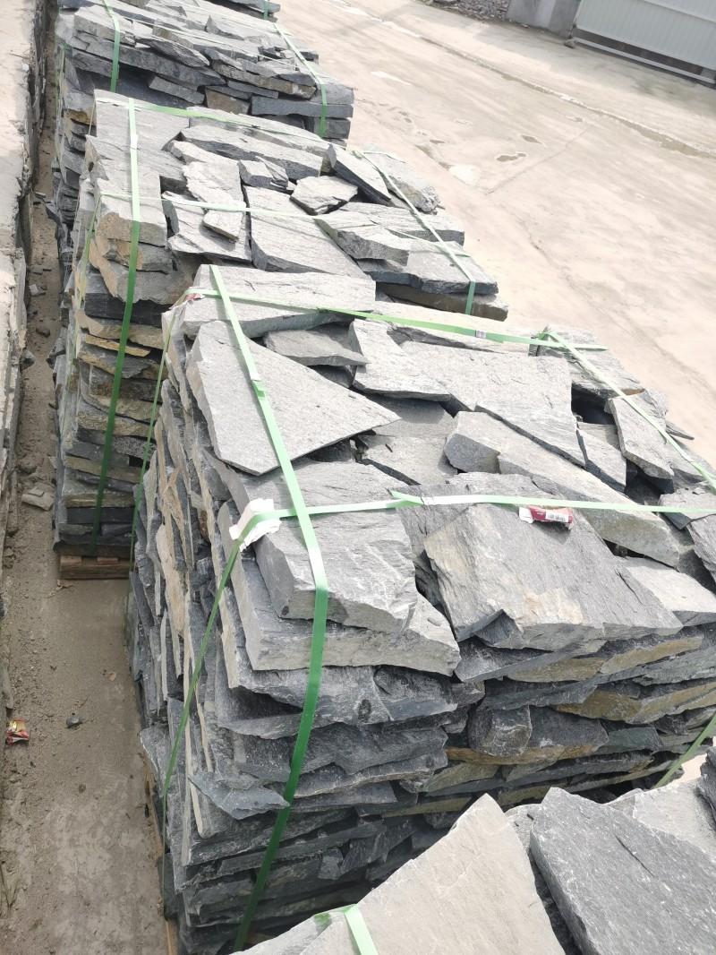 保定黑石英碎拼石 保定黑色碎拼石 冀磊石材碎拼石厂家