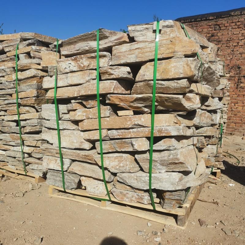 邢台锈色垒墙石 锈色砌墙石价格 邢台冀磊石材厂家现货