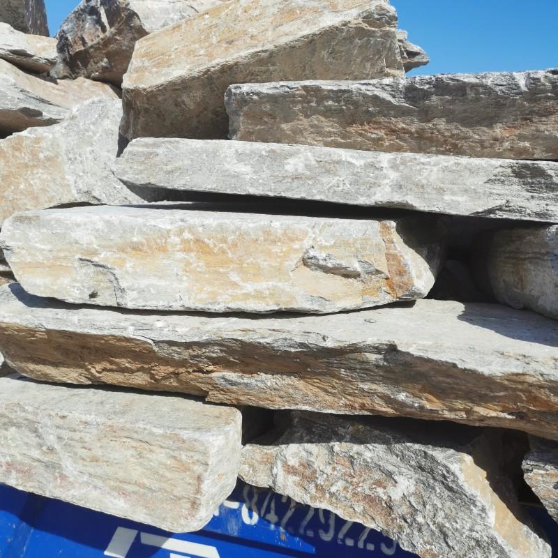 邢台沙河市锈色垒墙石 锈石英砌墙石 冀磊石材